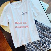 bc branco venda por atacado-2019 moda feminina marca T-shirts branco impresso algodão de manga curta T-shirt casuais Camisetas mulher alta qualidade verão mulheres roupas BC-8