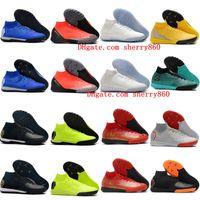 yeni kapalı ayakkabılar toptan satış-2019 erkek futbol ayakkabı SuperflyX 6 Elite CR7 IC TF kapalı futbol cleats Mercurial Superfly VI 360 futbol çizmeler scarpe da calcio yeni