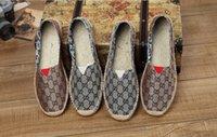 ingrosso scarpe casuali della tela di canapa delle donne-2019 HOT FASHION espadrillas da donna casual scarpa da pescatore controlla griglie spogliato slip slip on snickers skate ballet flats mocassini