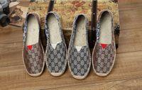 zapatos de lona casuales para mujer al por mayor-2019 HOT FASHION para mujer alpargatas calzados para pescadores casuales, cuadrículas de lona despojada resbalón en snickers skate ballet mocasines