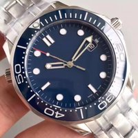 ingrosso james bond guarda blu-Luxury Mens meccanico professionale 300m James Bond 007 quadrante blu zaffiro automatico orologio da uomo Orologi da uomo orologi da polso a vento orologi da polso