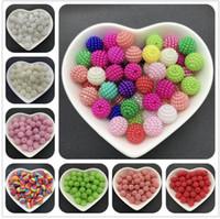 ingrosso perline acriliche di halloween-10mm 50pcs perle acriliche perle di bayberry perline sciolte rotonde in forma perlina Europa per monili che fanno accessori fai da te