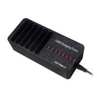 tipos de ic al por mayor-Base de carga rápida USB inteligente de 8 puertos y puerto de carga tipo C Estación de carga del organizador de escritorio de carga rápida con detección automática de IC inteligente