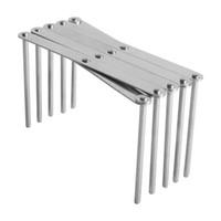 Wholesale utensil racks for sale - Group buy Kitchen Utensil Organizer Stainless Steel Pot Lid Plate Holder Rack Sectional Adjustable ALH1924005