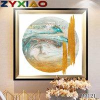 ingrosso pittura a olio d'onda-ZYXIAO Poster e stampa Esecuzione astratta onda del mare moderna Pittura a olio su tela No Frame Immagini a parete per soggiorno Decorazione della casa A3121