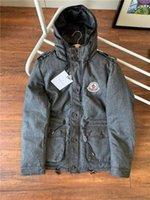 kışlık ceketler unisex parkas toptan satış-19FW Lüks Erkekler Tasarım Harf WinterTop 2 renk ile ceketler Klasik dimi yüksek Kalite Kış Kaban Spor Markalar Parkas Aşağı Jacket aşağı
