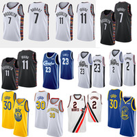 basketball jersey venda por atacado-NCAA 11 Irving Jersey Kevin Durant 7 Kawhi 2 Paul 13 George 30 Curry 27 Murray 15 jerseys College Basketball Jokic 23 James Mens Leonard
