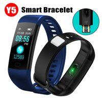 akıllı saat eller serbest toptan satış-Y5 smart watch mikrofon Bluetooth Android IOS için hands-free spor müzik pedometre Bluetooth saatler