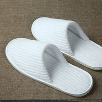 b8124843120 Wholesale home guest slippers online - Disposable Slippers Coral Fleece  Anti slip Home Guest Thick Travel