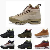 adam yağmur çizmeleri toptan satış-Yeni 9-5 Yüksek Üst Erkek Koşu Ayakkabıları 9-5 s Sneakerboot spor yağmur maxes kar kış boot Erkekler Sneakers Tasarımcı Çizmeler Boyutu 7-12