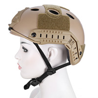 airsoft abs helm großhandel-Leichte Jagd Tactical Helm Airsoft Gear Crashworthy Kopfschutz Helme Für CS Paintball Game Camping