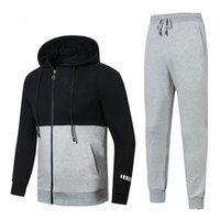sıcak spor giyim toptan satış-Sıcak! 2019 Yeni erkek Kapüşonlular ve Sweatshirt'ler Spor Erkek Ceket pantolon Koşu Koşu Koşu Turtleneck Spor Eşofman Takımları