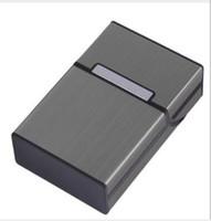 2019 New aluminium alloy cigarette box, metal cigarette box, magnetic button man metal cigarette box WL735