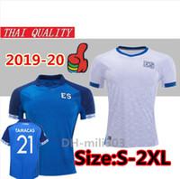 camisas de futebol de ouro venda por atacado-2019 camisas de futebol 2020 Gold Cup El Salvador 19 20 Federação Salvadorenha de Fútbol Pjanic TAMACAS casa longe camisa de futebol uniformes S-2XL