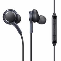 ingrosso battere di mele-Cuffie intra-auricolari cablate S8 cuffie sportive da 3,5 mm con microfono cuffie con filo volume cuffie per tutti i jack Samsung s8 e 3,5 mm