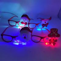 small gift оптовых-Рождественские горячие продажи светодиодные очки рамка Рождество дети мультфильм флэш-очки творческие небольшие подарки