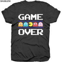 jogos de pac man venda por atacado-Pac-Man Game Over Classic Oficial Pacman Namco Arcade Game Preto Mens T-shirt Legal Casual orgulho camiseta homens Unisex Novo sbz3230
