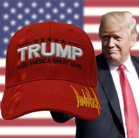 Wholesale american made caps online - 3D Embroidery Baseball Cap President  Election Hip Hop Hat Donald 354cff0f829