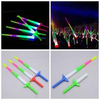 konser ışık çubuğu toptan satış-Glow Stick Renkli Çubuklar Led Yanıp sönen Kılıç Işık Parti Disco Işık sopa Müzik Konseri Cheer LED Işık ZZA1319 300pcs Sticks Tezahürat LED