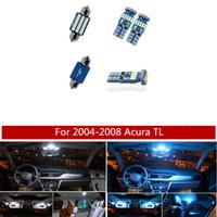 ingrosso piastre di acura-12pcs bianco blu del ghiaccio LED kit di lampadine interne per auto lampadine per 2004-2008 Acura TL Map Dome Trunk License Plate Lamp