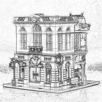 construcciones de ladrillo al por mayor-KING 84001 15001 Creator Expert BANCO DE LADRILLO con City 2413Pcs Modelo Building Blocks Regalos Juguetes Creative City Construction 10251