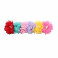 banda de flores de malla al por mayor-Kids Baby Infant Princess Mesh Flower Girl Hair Band Diadema Headwear Accesorios
