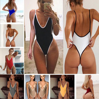 bikini sexy body toptan satış-Kadın mayo sigortalı Kadınlar Seksi Push Up Sütyen monokini Plaj Bikini vücut Mayo femme seksi tek parça gelin mayo