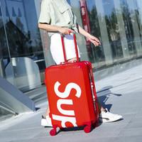 Wholesale suitcase for sale - Luggage bag new style Universal wheel Pull rod box fashion Unisex Spinner Hardside Luggage maletas de viaje con ruedas envio