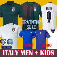 trajes de italia al por mayor-19 20 jerseys del fútbol de Italia Lejos Tercer INSIGNE INMÓVIL 1990 retro del fútbol ropa de entrenamiento renacimiento BELOTTI TOTTI 2006 camiseta de fútbol retro