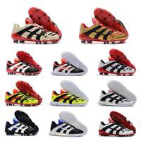 tacos de fútbol rosa al por mayor-Botas de fútbol de alta calidad originales Dream Back 98 Predator Accelerator Champagne FG / IC Zapatos de fútbol Zapatos de fútbol Zapatillas de deporte