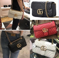 Wholesale womens luxury fashion purses for sale - Group buy 2019 Logo Luxury Classic G Womens Mini Leather bags Lady Cross Body Messenger Bags Fashion Shoulder Bags Coin Purse Mobile phone bag