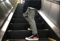 красная удобная обувь оптовых-Jeff Store эти туфли соответствуют размеру черного с красным сердцем Высокое качество холста комфортно