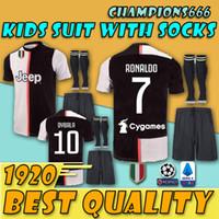 Wholesale thailand soccer kits for sale - Group buy Kids Kits Thailand Juv soccer jersey football shirt RONALDO uniforms champions Bernardeschi DYBALA JUVE EA SPORTS