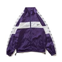 Wholesale women outerwear for sale - Mens Active Windbreaker Jackets Women Loose Patchwork Outerwear Coats Lovers High Street Letter Print Jackets Coats Hommes Clothing