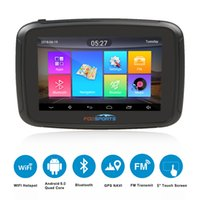 Wholesale battery gps car resale online - Fodsports ipx7 waterproof motorcycle navigation inch moto car GPS wifi G motorbike navigator android FM mAh battery