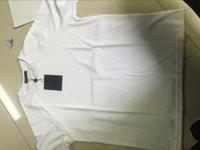 dedo de la camiseta de los hombres al por mayor-19ss Ropa de calle de verano Europa París Moda Hombre Alta calidad victoria dedo camiseta, raya oscura y manga corta camiseta