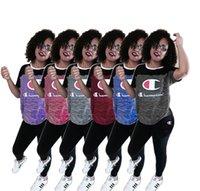 2-teiliger overall plus größen großhandel-Frauen Casual Sweatsuit 2 Zweiteilige Frau Set Outfits Trainingsanzug Femme Sportanzug Tägliche Tops und Hosen Overalls Trainingsanzüge plus Größe