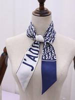 headbands de qualidade venda por atacado-Saco do crânio headbands mais novo primavera verão xales projeto headbands design lenços 100% de seda de alta qualidade com tags 7 * 120 CM frete grátis