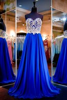 Wholesale diamond spring water resale online - Prom Dresses Sexy heart shaped collar jacket gold decals diamonds glittering side zippers chiffon and floor dress custom package