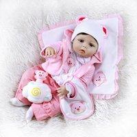 ingrosso bambola reale piena-NPK 56CM rinato bambino bambola per tutto il corpo morbido silicone bambola giocattolo dimensioni bebe Bagno rinato 0-3M bambino vero anatomicamente corretto