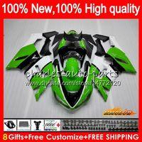 kits de corpo para kawasaki zx6r venda por atacado-Corpo Para KAWASAKI ZX600 ZX 6R 600cc 6 R ZX636 05 06 35HC.8 ZX636 600 CC ZX6R 05 06 ZX600 ZX 636 ZX6R 2005 2006 Fairing kit estoque verde