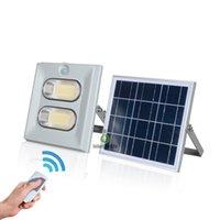 luz de inundación ip67 al por mayor-Iluminación solar LED para exteriores 50W 100W 150W Luz de inundación solar Impermeable IP67 Luces solares para jardín con control remoto