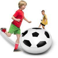 luz pairando venda por atacado-Power Soccer ir Hot vendas Bola de LED piscando Chegada Air Power Soccer Bola Disco Indoor Football Toy Multi-superfície pairando e Glidi ...