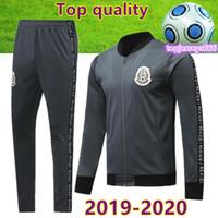 552bceafa 2020 Thai quality Mexico soccer tracksuit zipper jacket 2019 20 mexico  football training suit H.LOZANO CHICHARITO soccer jacket pants
