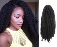 Wholesale afro curl braiding hair for sale - Group buy Hot Packs Afro Marely Braids Hair Twist Crochet Braids Hair Curl Crochet Synthetic Braiding Hair g Piece Brown Black Color