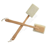 luffa-back-wäscher-pinsel groihandel-Natural Loofah Brush Exfoliating Dead Skin Body Scrubber Bath Brush with Long Detachable Wooden Handle Back Brush ZZA1384