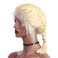 blonde glueless menschliche spitzeperücken groihandel-13X4 Glueless Bob Cut Perücken Gerade Transparente Kurze Perücken Honig Blonde 613 Spitzefront Menschliches Haar Perücken Remy Haar Dolago