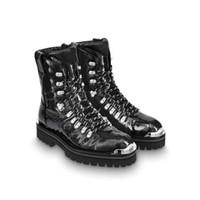 plattformschuhstiefel schwarz großhandel-Luxus Womens Stiefel Gedruckt Marke Schwarz Braun Martin Stiefel Plattform Desert Boot Herren Arbeit Schnee Stiefel Casual Stiefelette Designer Winter Schuhe