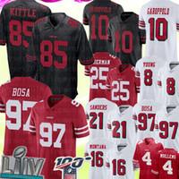 futbol forması 85 toptan satış-85 George Kittle San Francisco49ers Jersey 97 Nick Bosa 10 Jimmy Garoppolo Futbol Formalar Richard Sherman Deion Sanders