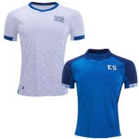 jersey el salvador al por mayor-Jerseys de fútbol de El Salvador 2019 2020 en casa Nelson Bonilla ceren 19 20 Copa de Oro Camiseta de fútbol azul blanco Uniforme del equipo nacional